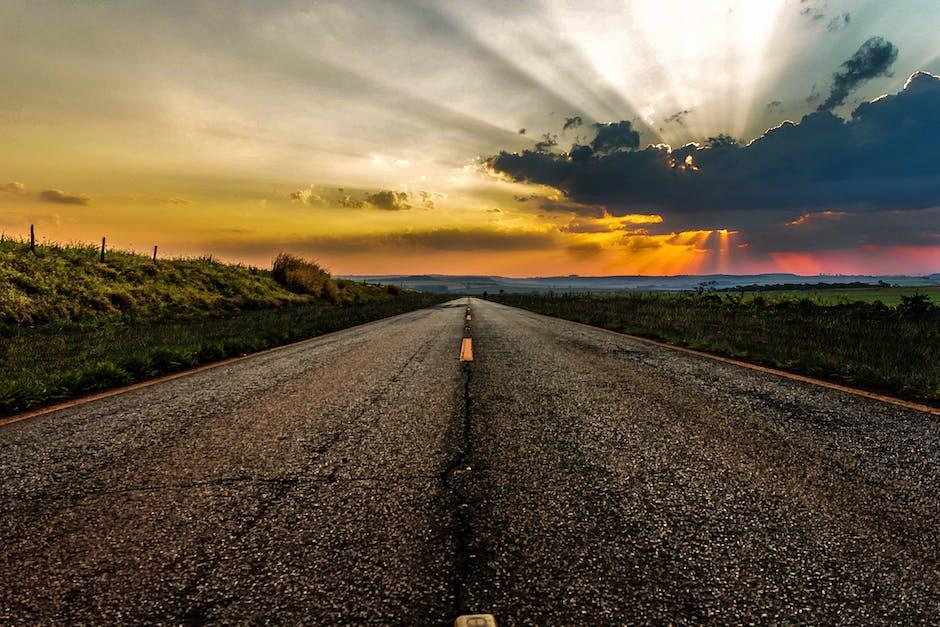 Roadway during golden hour