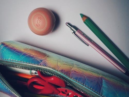Free stock photo of eos, essentials, lip balm, pencil