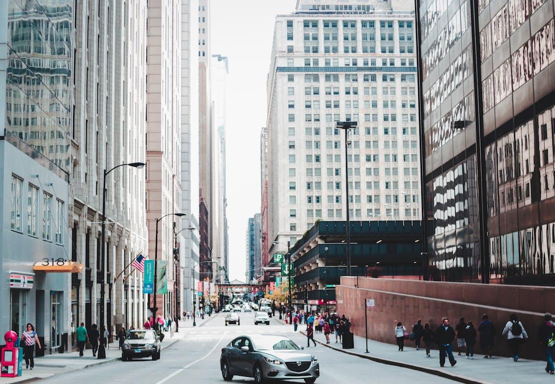 alto, arquitectura, calle