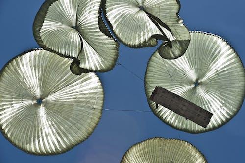 bakış açısı, dar açılı çekim, gökyüzü, paraşütler içeren Ücretsiz stok fotoğraf