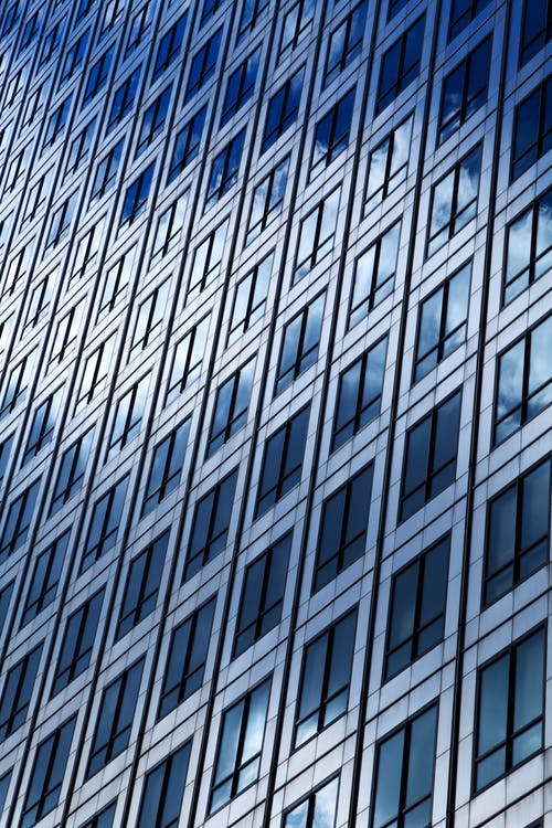 Gray and Black Glass Building