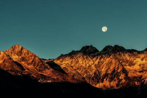Kostnadsfri bild av bakgrundsbelyst, berg, gryning, hd wallpaer