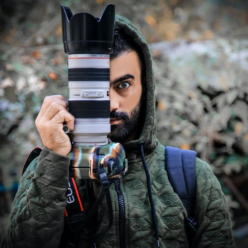 Person Holding a Dslr Camera