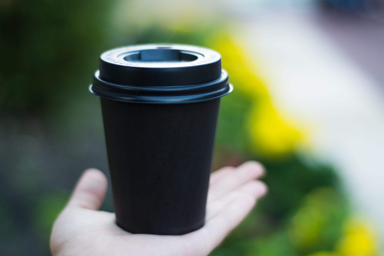 hand, kaffee, schwarz
