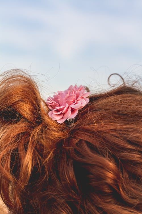 Gratis stockfoto met bloem, ginger, haar, meisje