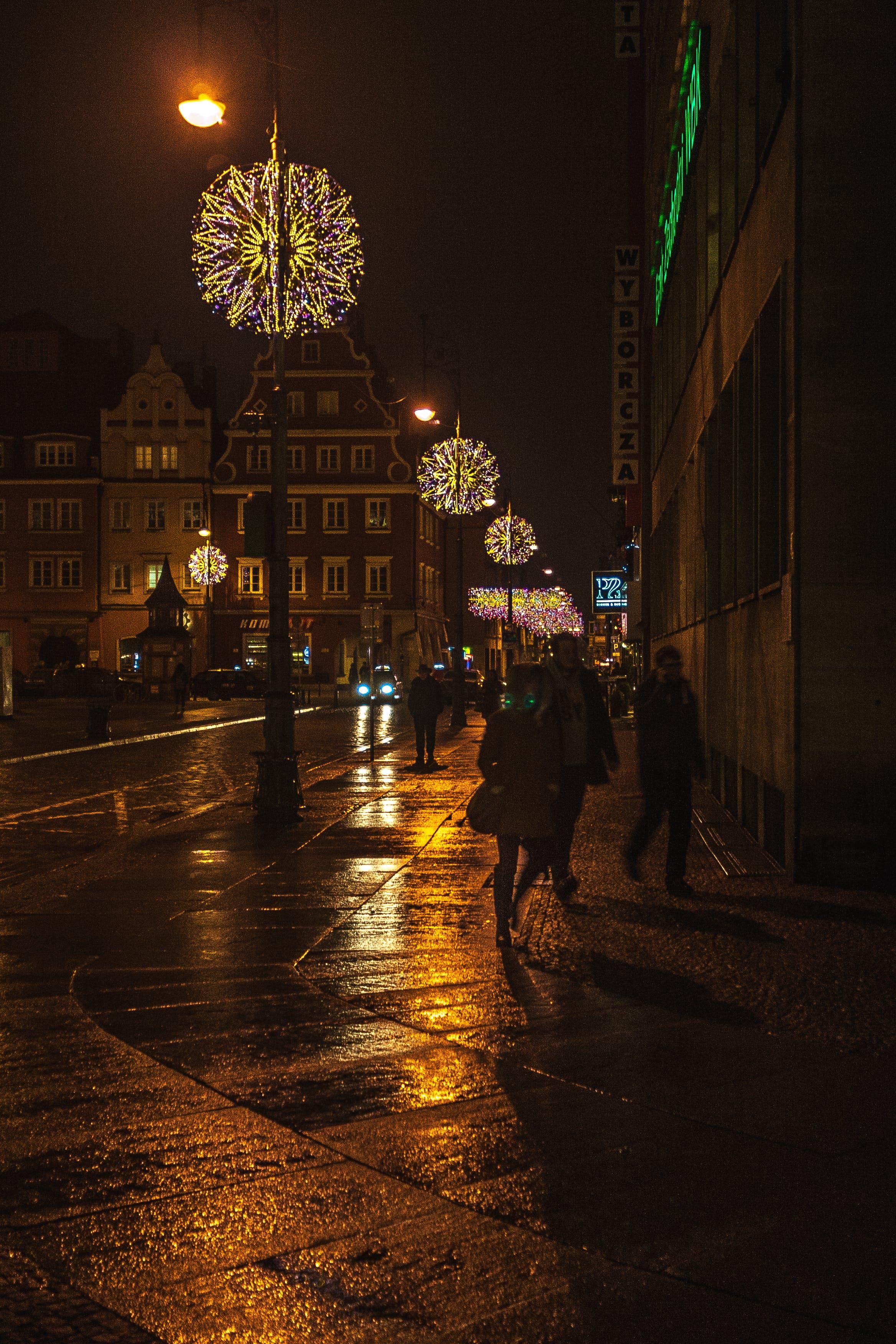 Free stock photo of breslau, christmas, lanterns, lights