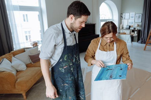Free stock photo of 2 person, adult, art therapy