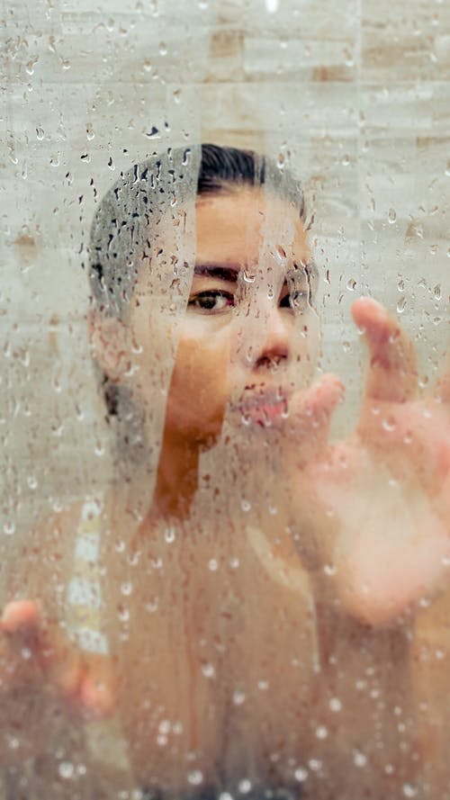 Woman in Water With Bubbles