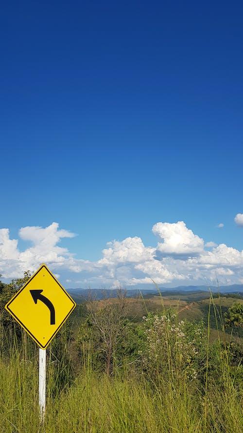 Free stock photo of blue sky, caution, céu