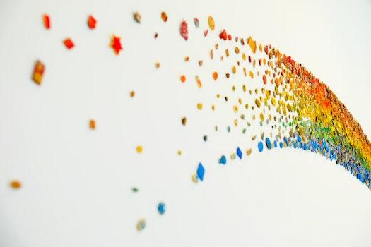 Blue, Green, Orange and Red Rainbow Design Decoration
