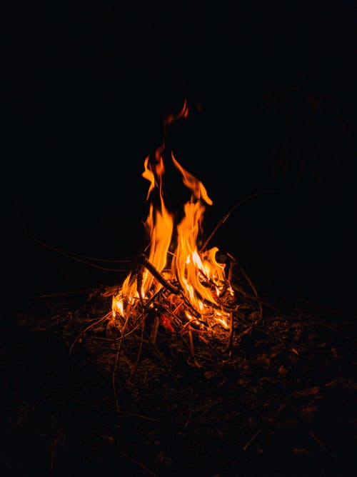 Orange Fire in the Dark