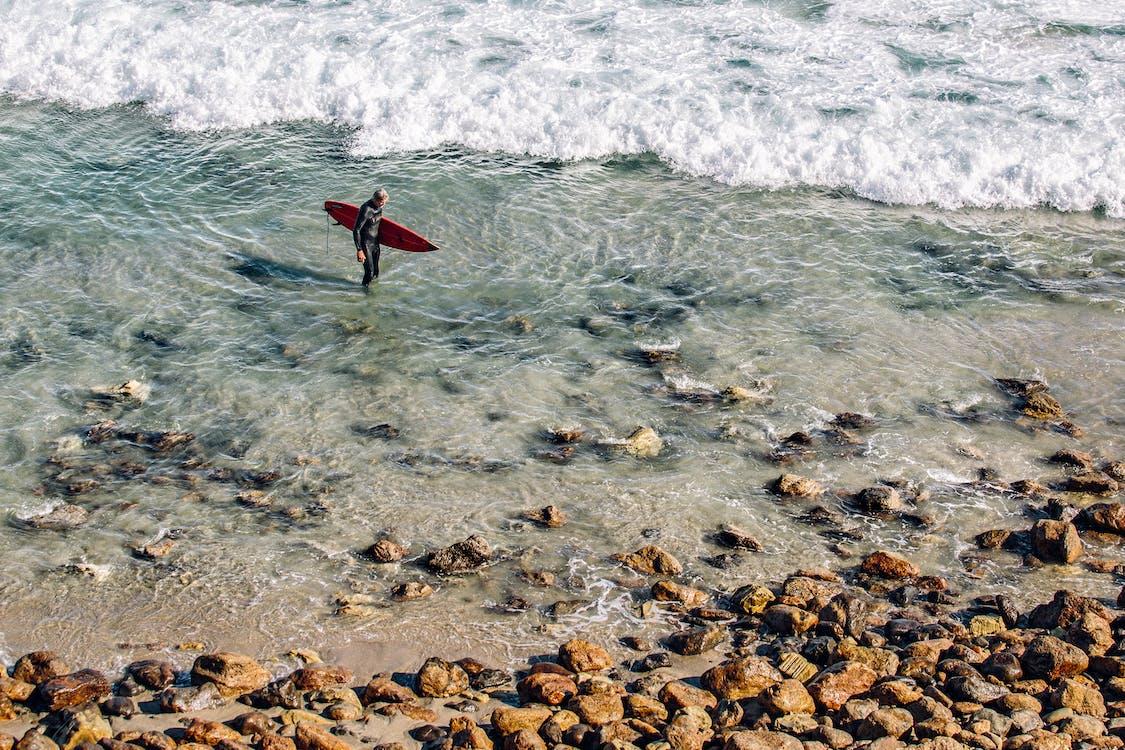 acqua, fare surf, mare