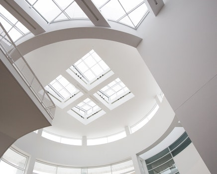 White Painted Ceiling With Glass Roof during Day Time