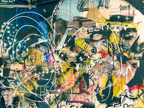 Free stock photo of art, graffiti, abstract, lines