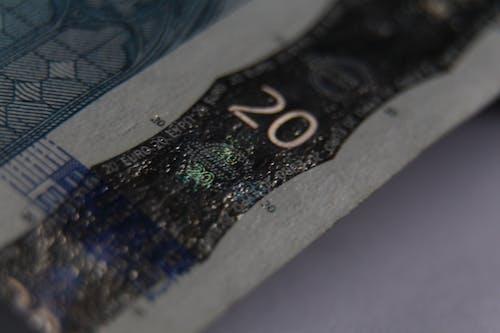 Free stock photo of cash money, euro, macro