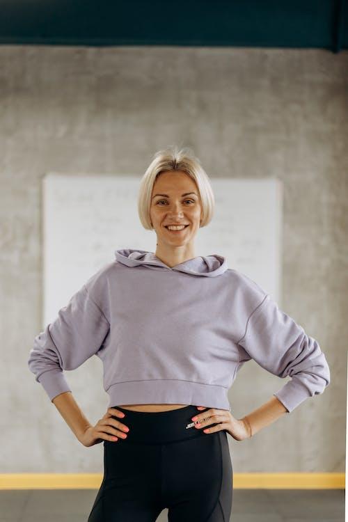Blonde Woman In Active Wear