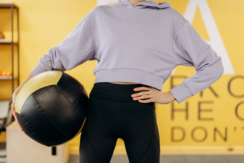 Crop Photo Of Woman With An Exercise Ball