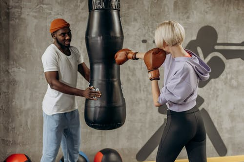 Woman Doing Punching Exercise