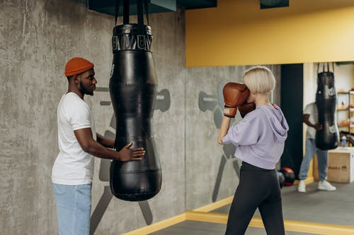Woman Training In Boxing