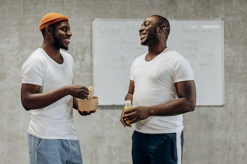 Two Men Having Breaktime
