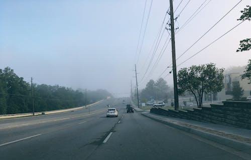 Gratis stockfoto met auto's, mist, mistachtig, plaats