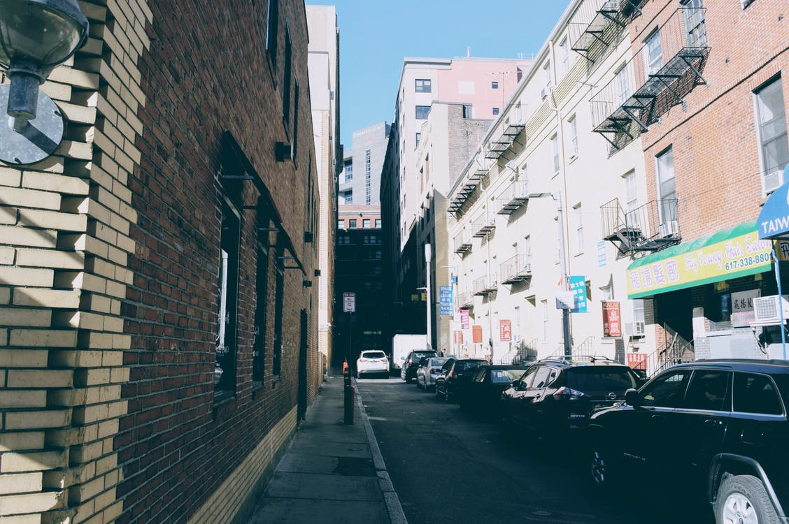 autá, Boston, budova