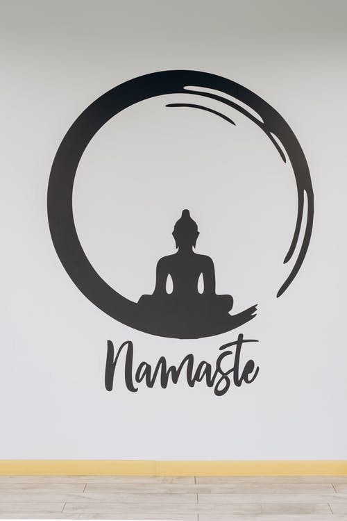Namaste Sign On Wall