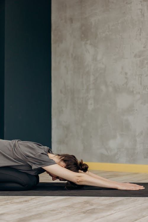 Woman In Bending Position