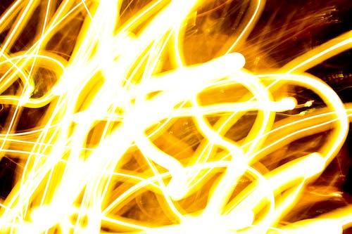 Free stock photo of car lights, city lights, fire