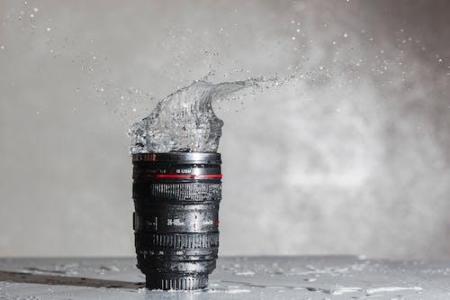 Photos gratuites de eau, éclaboussure, matériel de photographie, objectif