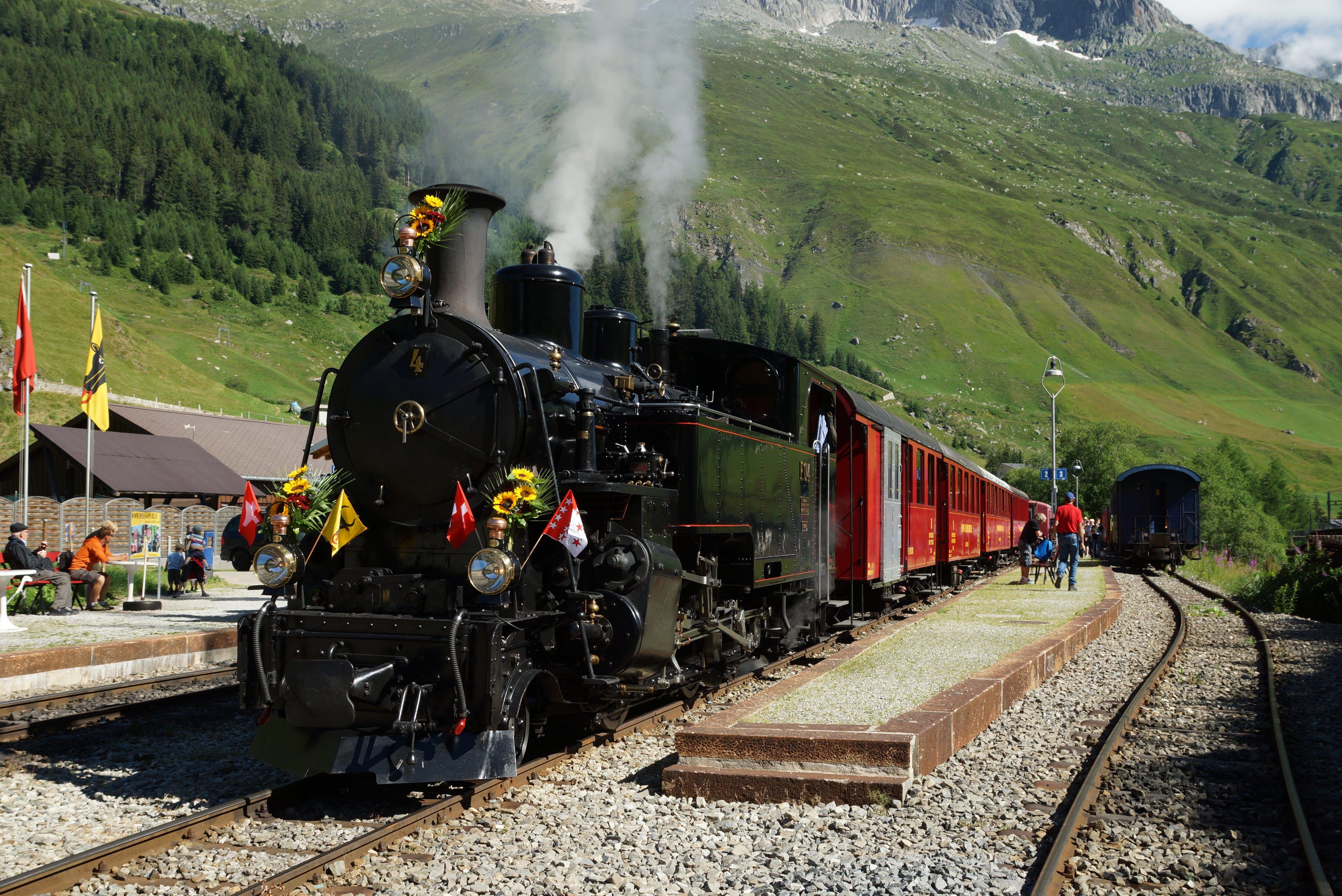 Free stock photo of 100, mountain, railways, steam train