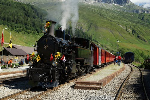 Free stock photo of 100, mountain, railways, steam train