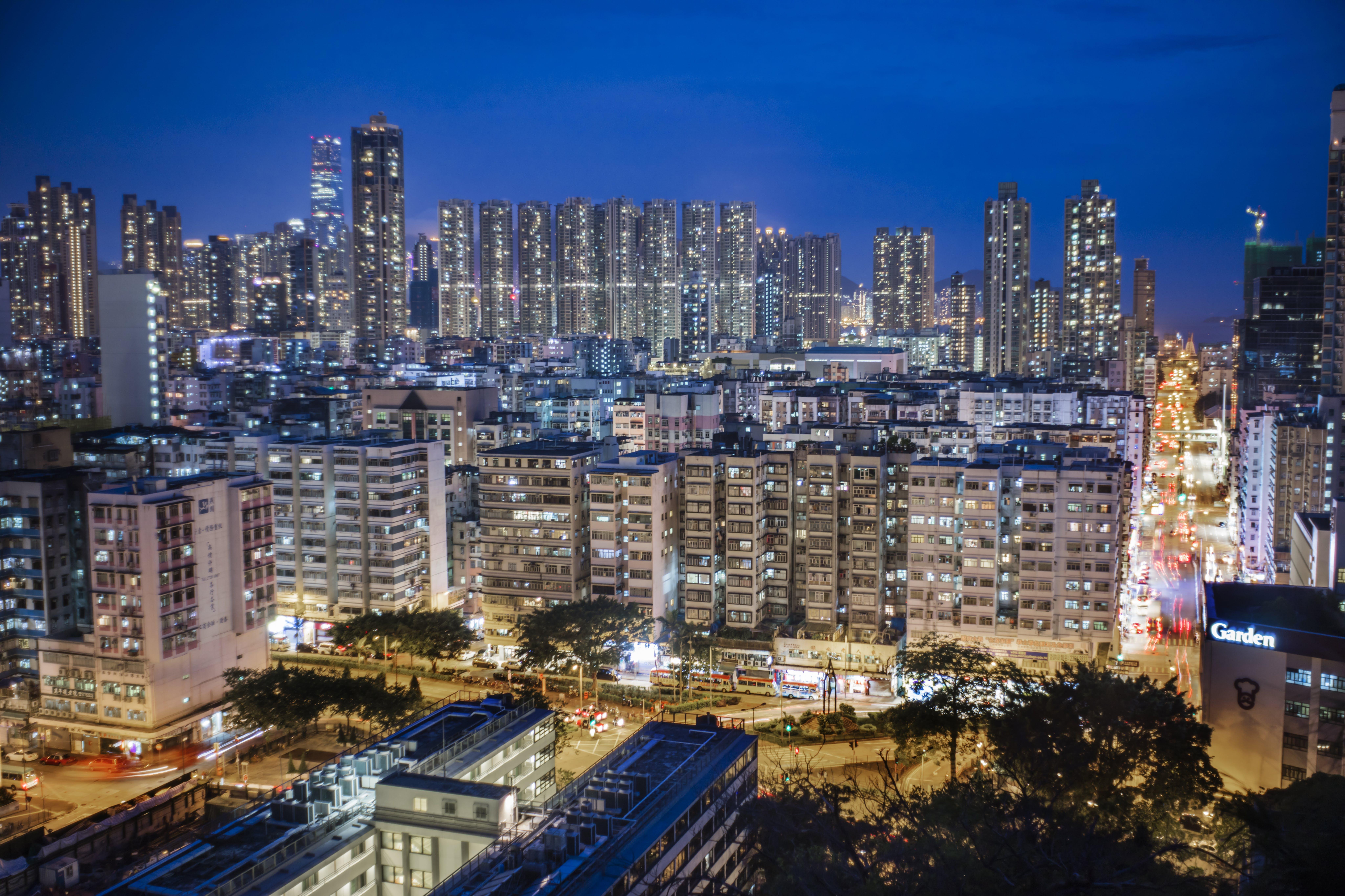 Free stock photo of building, city, dark, hong kong