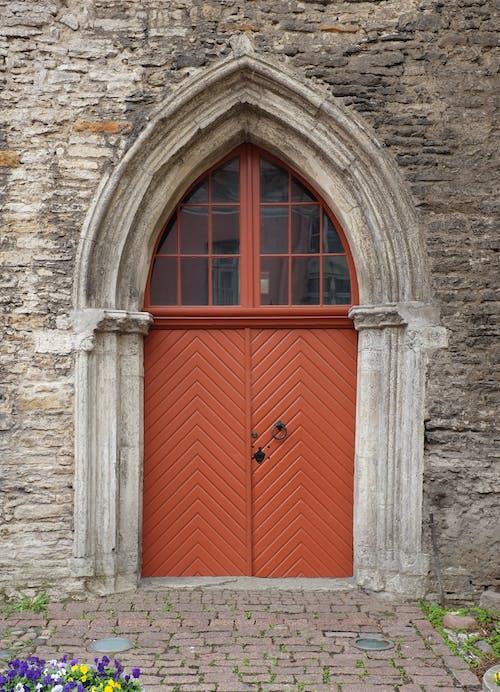 Doorway on Gray Concrete Structure