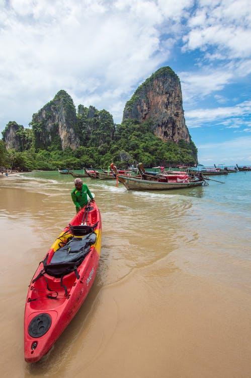 Free stock photo of beach, kayak, kayaking
