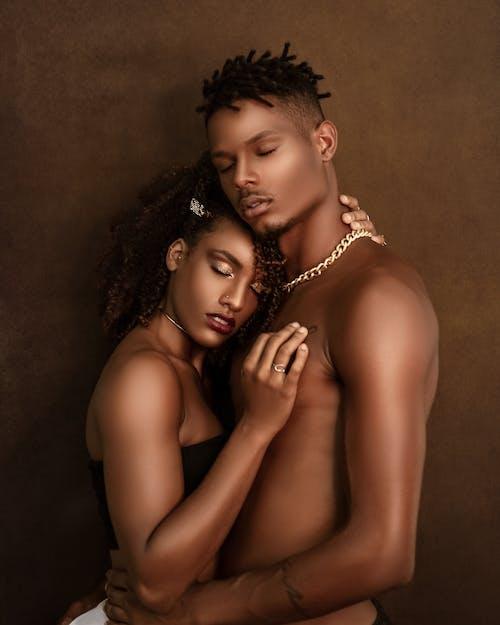 Gratis lagerfoto af afrikansk amerikansk par, afro, amour