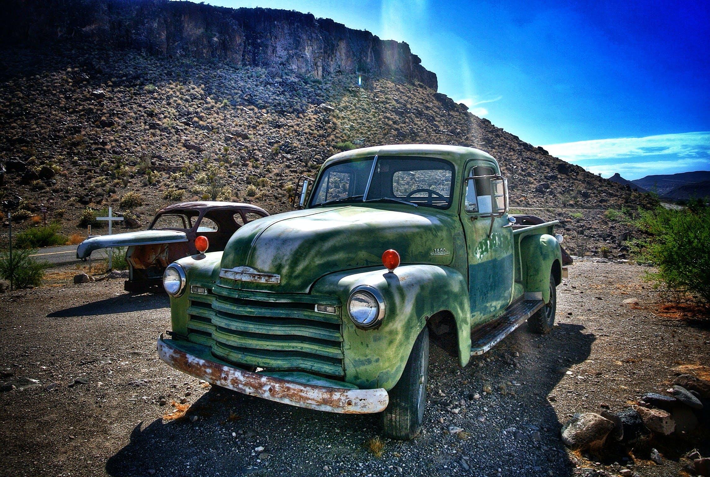 Kostenloses Stock Foto zu alte tankstelle, amerika, amerikanisches auto, arizona