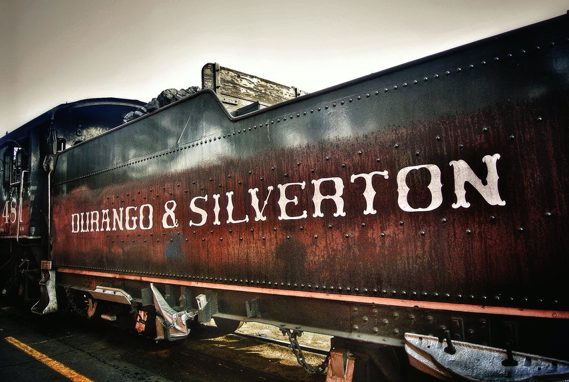 Durango and Silverton on Brown Stained Train