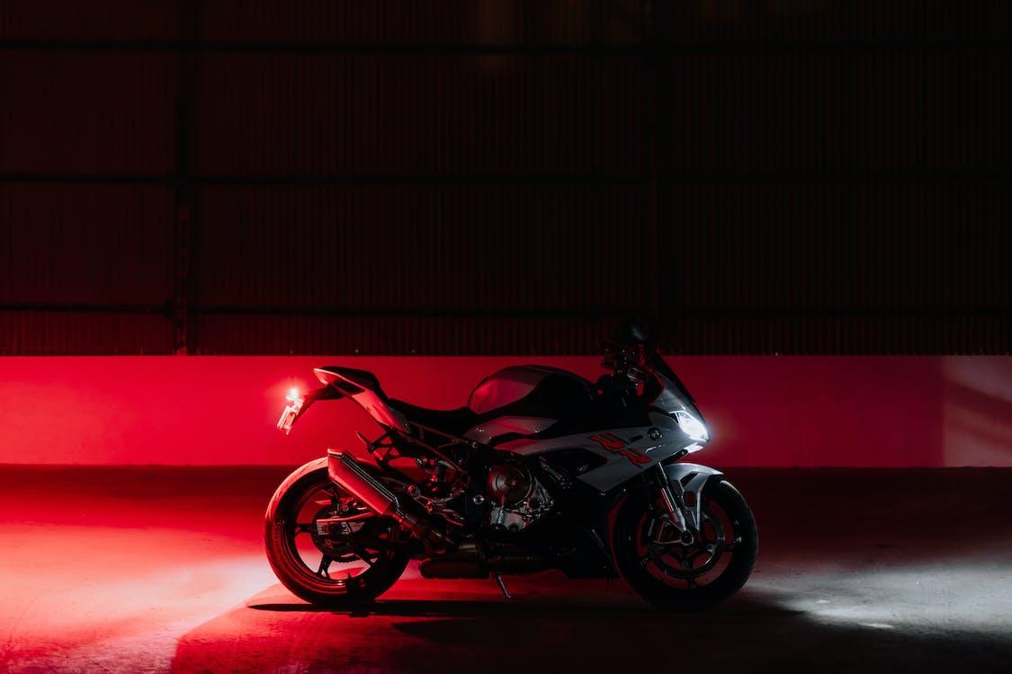 Black and Red Sports Bike