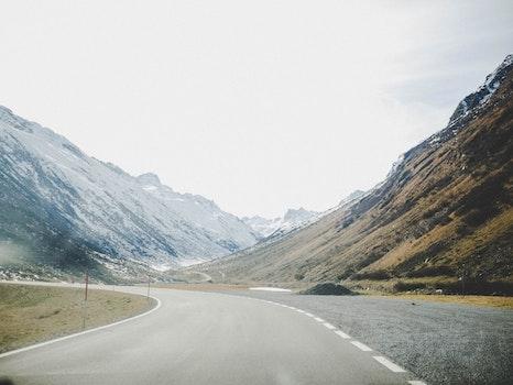 Kostenloses Stock Foto zu schnee, straße, landschaft, natur