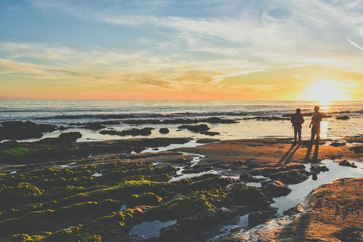 Free stock photo of sea, nature, sunset, beach