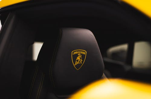 Black and Yellow Car Seat