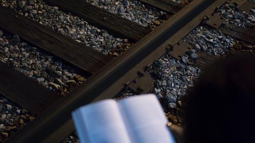 Základová fotografie zdarma na téma kameny, koleje, štěrk, železnice