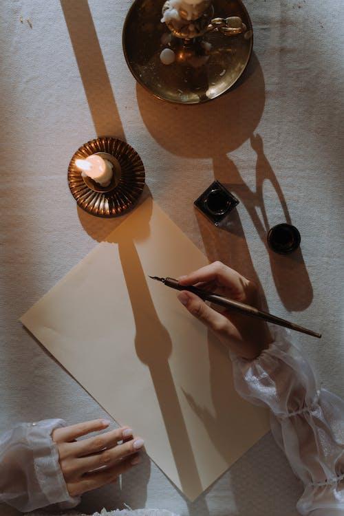 19世紀, アダルト, イリジウムペン先の無料の写真素材