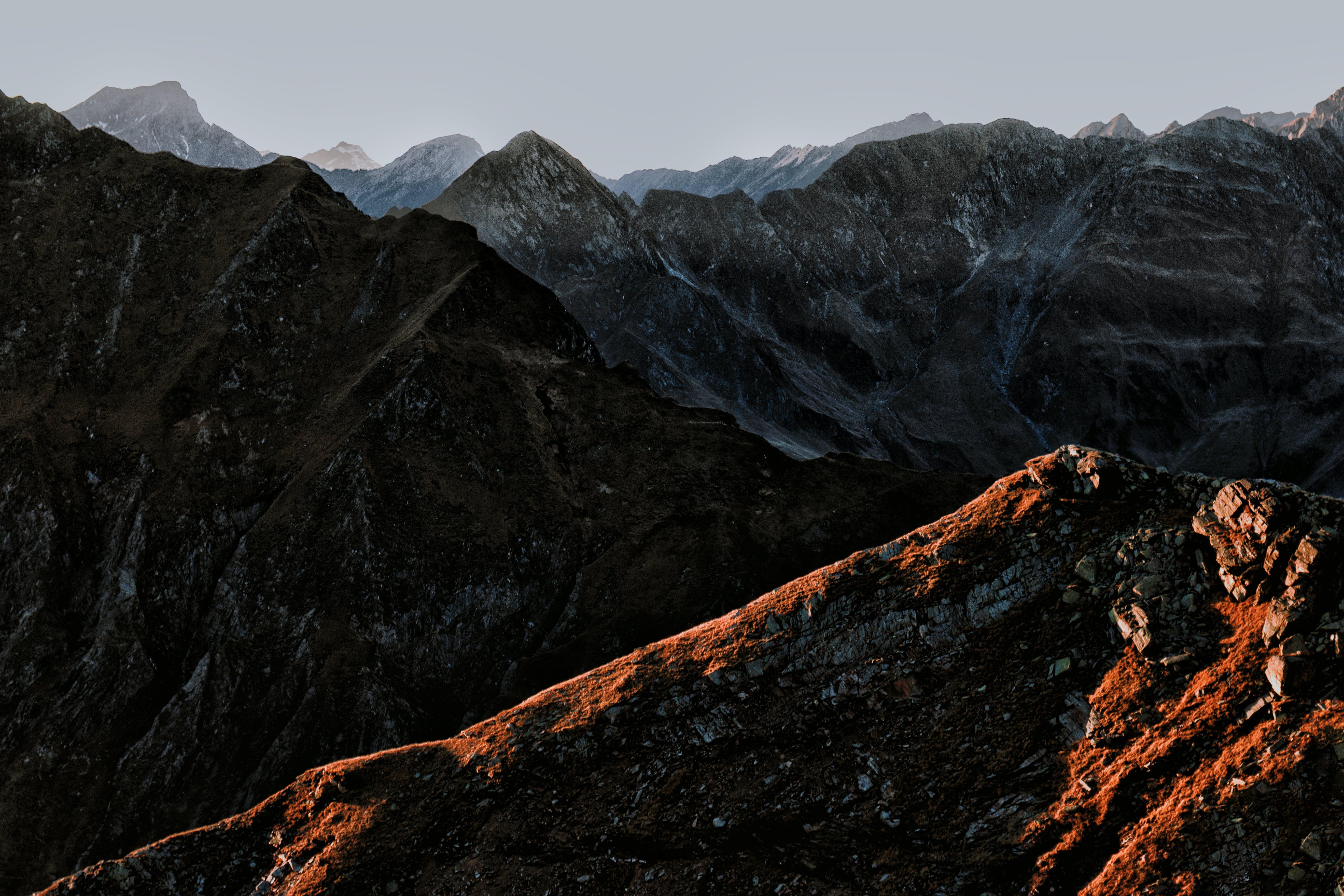 Základová fotografie zdarma na téma denní světlo, HD tapeta, hory, kameny