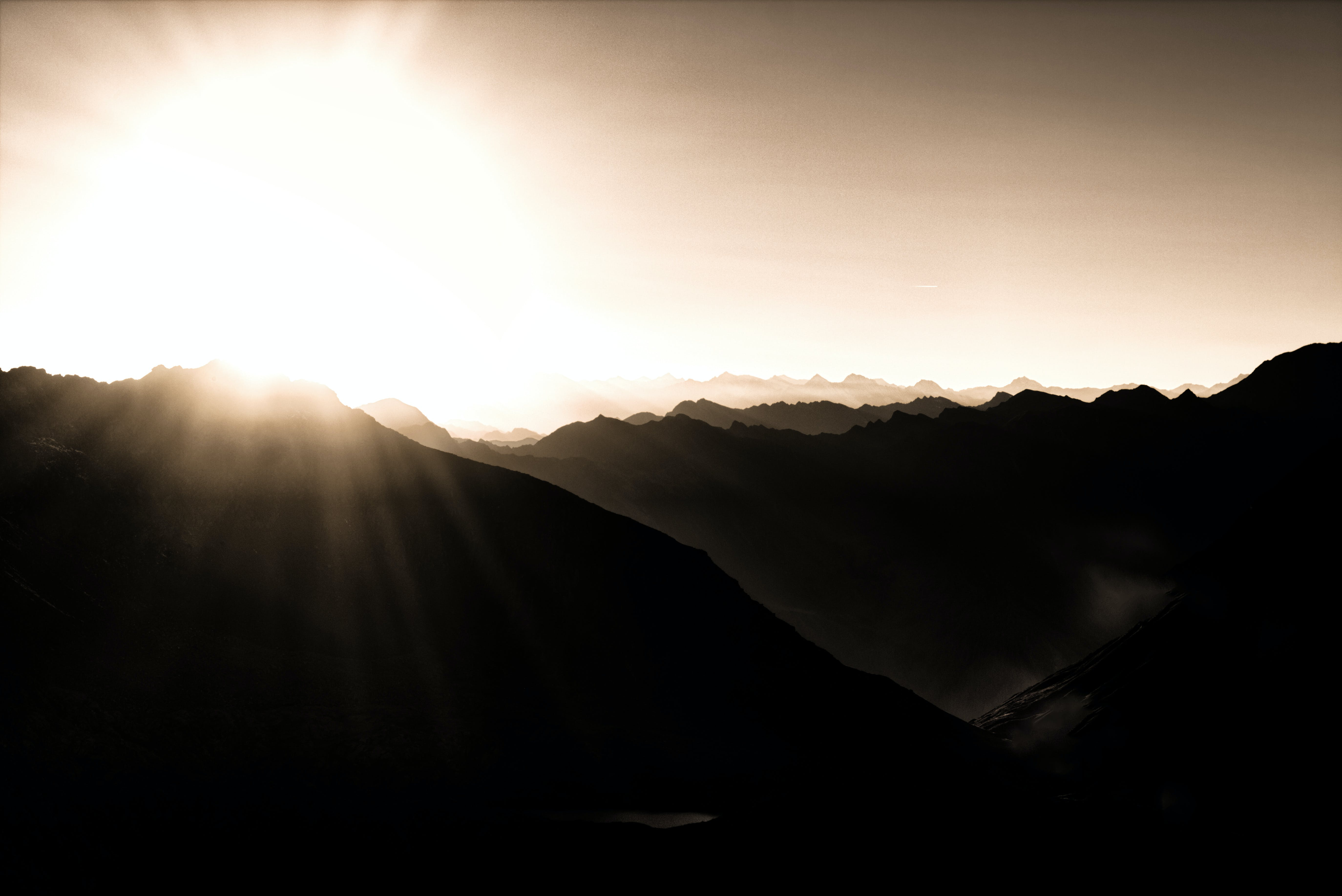 Photography of Mountains During Sunrise