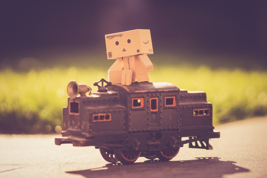 Danboard on Top of Toy Train