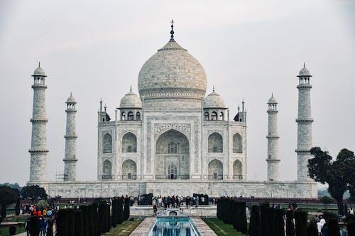 Majestic Taj Mahal under Clear Sky