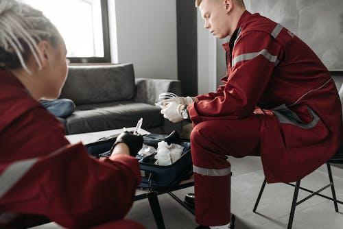 EMT Preparing Equipment