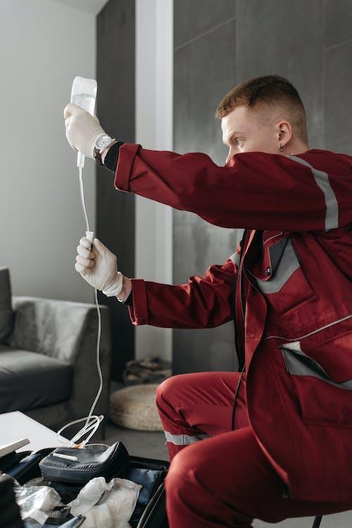 Бесплатное стоковое фото с декстроза, емт, медицинский работник